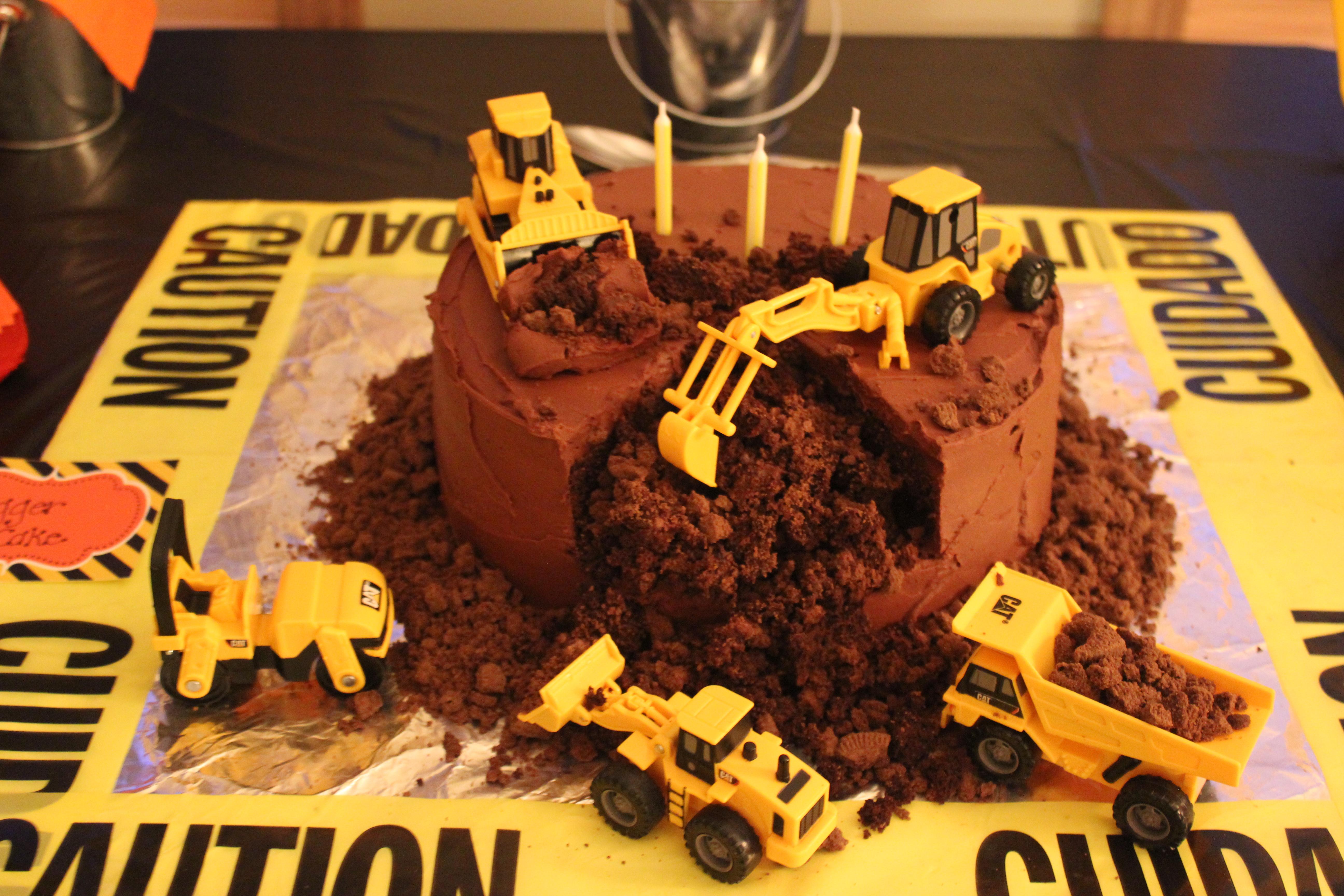Excellent A Birthday Boys Dream Digger Cake Gluten Free Lenay Graham Funny Birthday Cards Online Necthendildamsfinfo